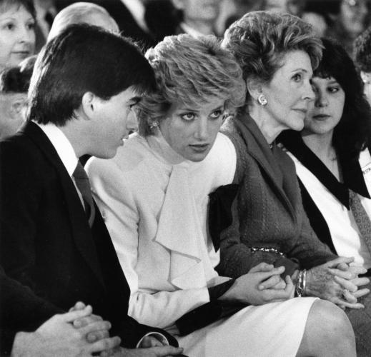 Princess Diana And First Lady Nancy Reagan Visit Straight Inc To Talk About Drug Abuse 14